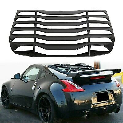 Black Rear Window Louvers Cover Sun Shade ABS For NISSAN 370Z 2009-2019