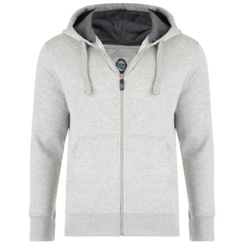 Mens KAM Fleece Hooded Zip Up Sweat Jumper Smart Casual Jacket  Big Size 2-8XL