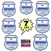 7 Brinks Adt Home Security System Alarm Window Decal Warning Door Stickers Signs