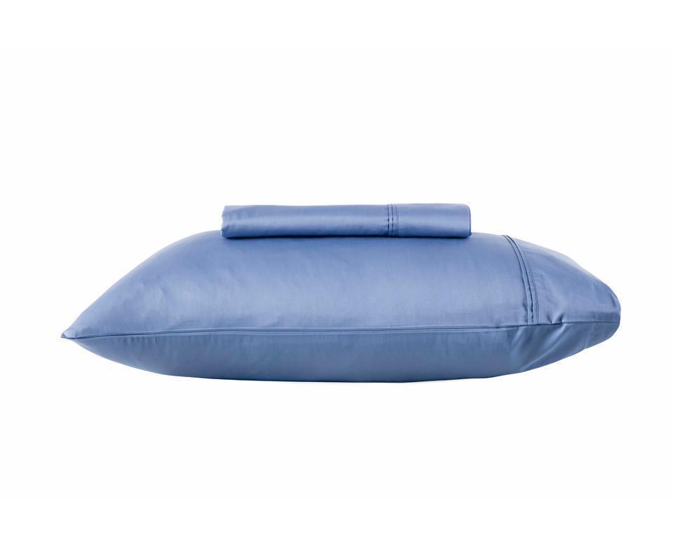 KAS 500TC 100% Egyptian Cotton Sateen Sheet Set King & Queen Bed Größe in Denim