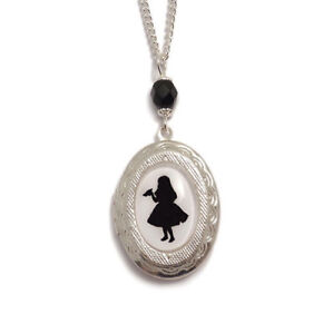 Alice-in-Wonderland-necklace-locket-DRINK-ME-cameo-silver-victorian-gothic-goth