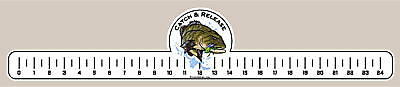 Bass Catch /& Release Fishing Ruler Decal//Sticker S.M