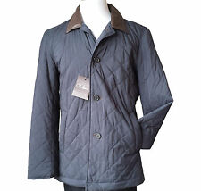 Cole Haan men size M quilted jacket with leather collar Therma Insulation