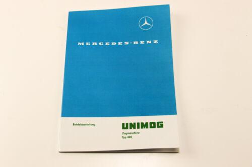 Unimog Betriebsanleitung U406 65 PS