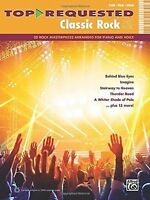 Top Requested Classic Rock Sheet Music Piano Vocal Guitar Book