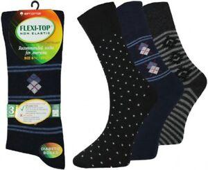 New-Men-039-s-Suit-Design-034-Flexi-Top-034-Diabetic-Non-Elasticated-Soft-Comfort-Socks-3pp