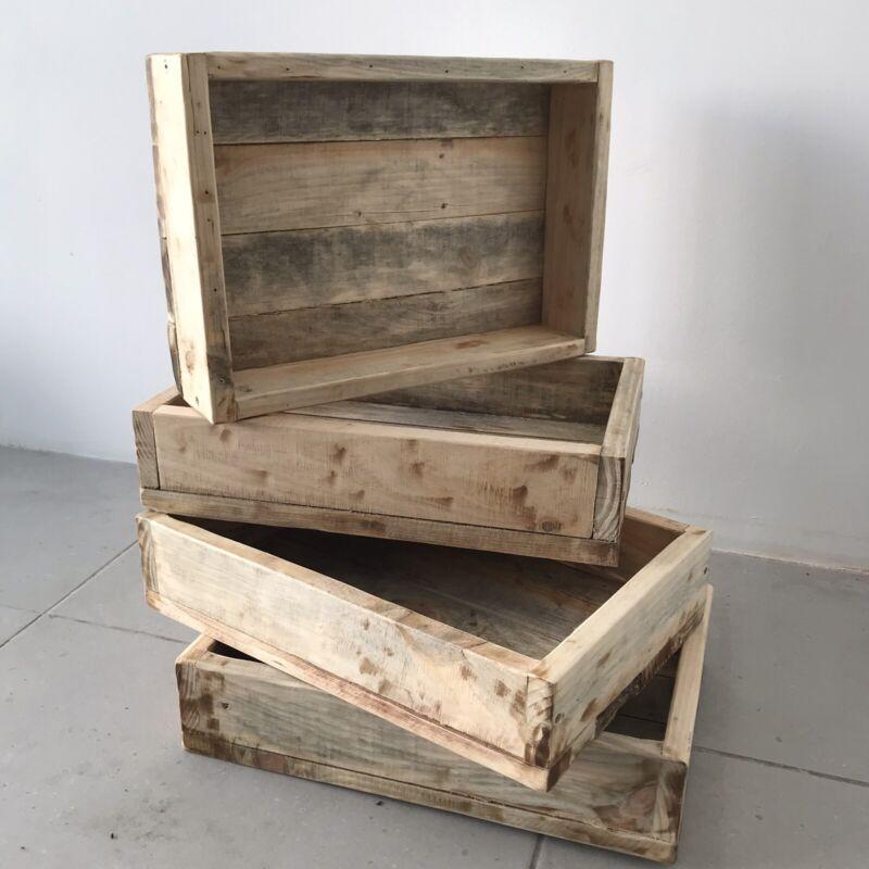 Pine wood crates/planters