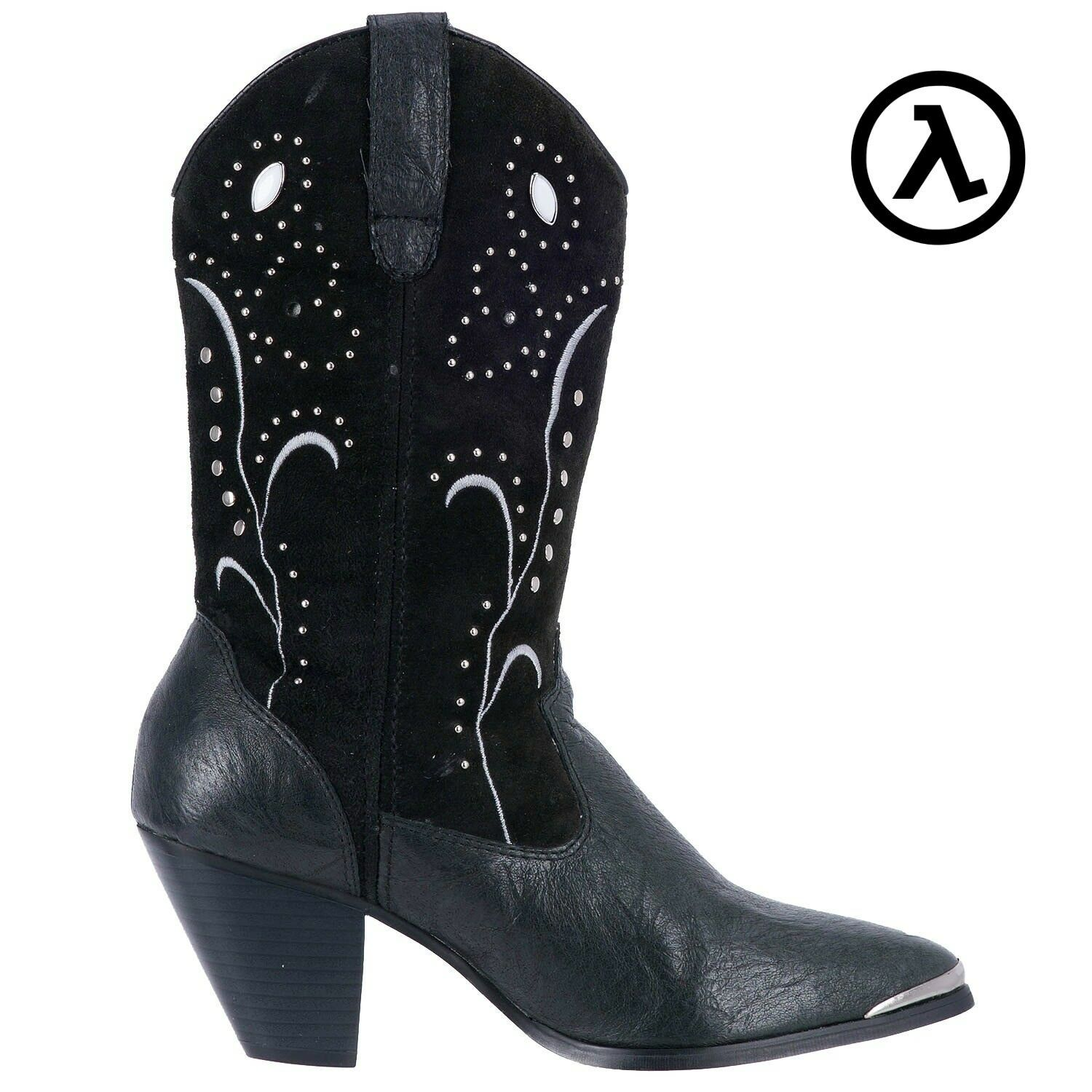 DINGO AVA 11  BLACK LEATHER WOMEN'S WESTERN BOOTS DI 587  ALL SIZES