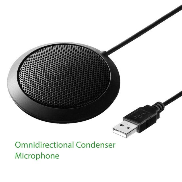 Desktop 360° Omnidirectional Condenser Microphone for Teleconferencing Meeting