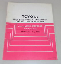 Workshop Manual Toyota Supra MA70 series body repair Stand 08/1986