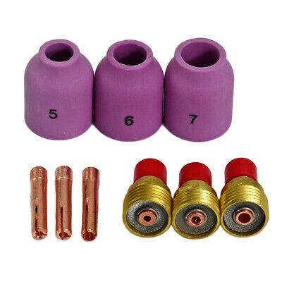 13N23 2,4mm Pinzas TIG Fit DB PTA SR WP-9 20 25 Antorcha de soldadura TIG 10PK