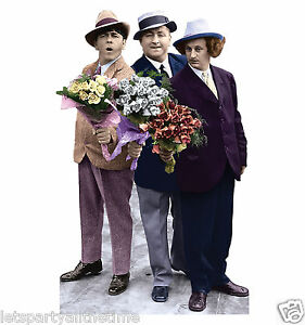 The-3-Stooges-Flowers-Lifesize-CARDBOARD-CUTOUT-standee-standup-C555