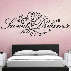 WANDTATTOO-Sweet-Dreams-W718-Wandsticker-Schlafzimmer-suesse-Traeume-Wandtatoo