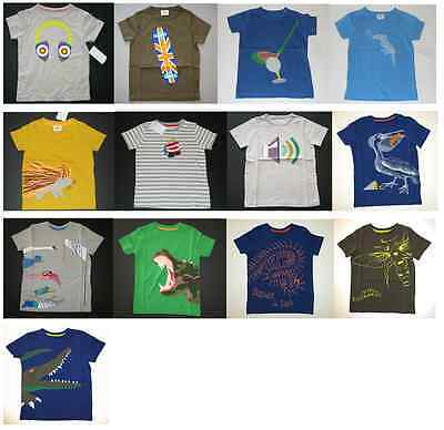4Yrs NEW JUST IN Baby Boden Boys Applique Top T Shirt Short Sleeve 0-3 Mths