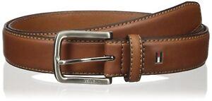 Tommy-Hilfiger-Men-039-s-Brown-Belt-Ribbon-Stitch-Leather-11tl02x038-brown