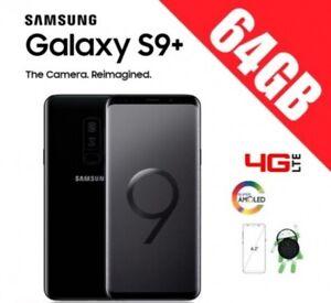Samsung-galaxy-s9-plus-g965f-Black-FREE-warranty-box-accessories