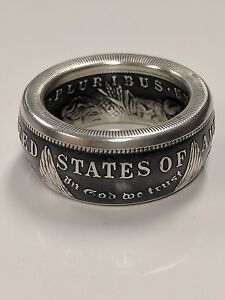 934bd68e22bc4 Details about Morgan Silver Dollar Coin Ring Sizes 8-15 90% Antique Silver  Coin Handmade
