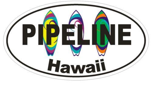 Pipeline Hawaii Ovale Autocollant ou Casque Autocollant D1342 Surf surfing surfer