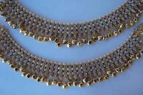 Ethnic Indian Bollywood Fashion Gold Tone Jewelry Bracelet lourd Bell Payal.