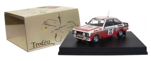 Trofeu 1020 Ford Escort Mk Ii Portugal Rally 1981-M Silva 1//43 Escala