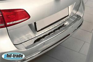 Protección del borde de carga para VW PASSAT B7 VARIANT + ALLTRACK ? 2010-2014 Brillo de acero inoxidable