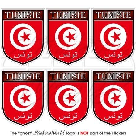 TUNISIA Tunisino Tunisie Scudo Adesivi per Cellulare 40mm Mini Stickers x6
