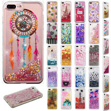 For Apple iPhone 8 & 8 PLUS Liquid Glitter Quicksand Hard Case Phone Cover