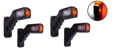 flexzon 12v 24v Red Amber White Stalk Side Rubber Led Marker Lights Trailer Truck L /& R