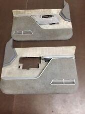 88-94 Chevrolet Silverado GMC Sierra PAIR OF Door Panels OEM Power GREY