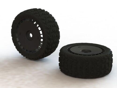 Kraton Talion Arrma AR550048 Dboots Katar T 6S Tire //Wheel Set Glued Black 2