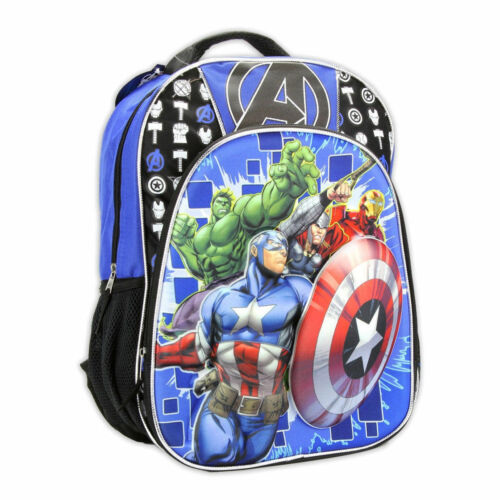 """Lunch Bag Tote Pop Out 3D Avengers Captain America Blue Black New Backpack 16/"""""""