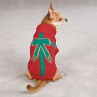 Dog Holiday Present Sweater Red Eastside Collection Choose Your Size Ships Free