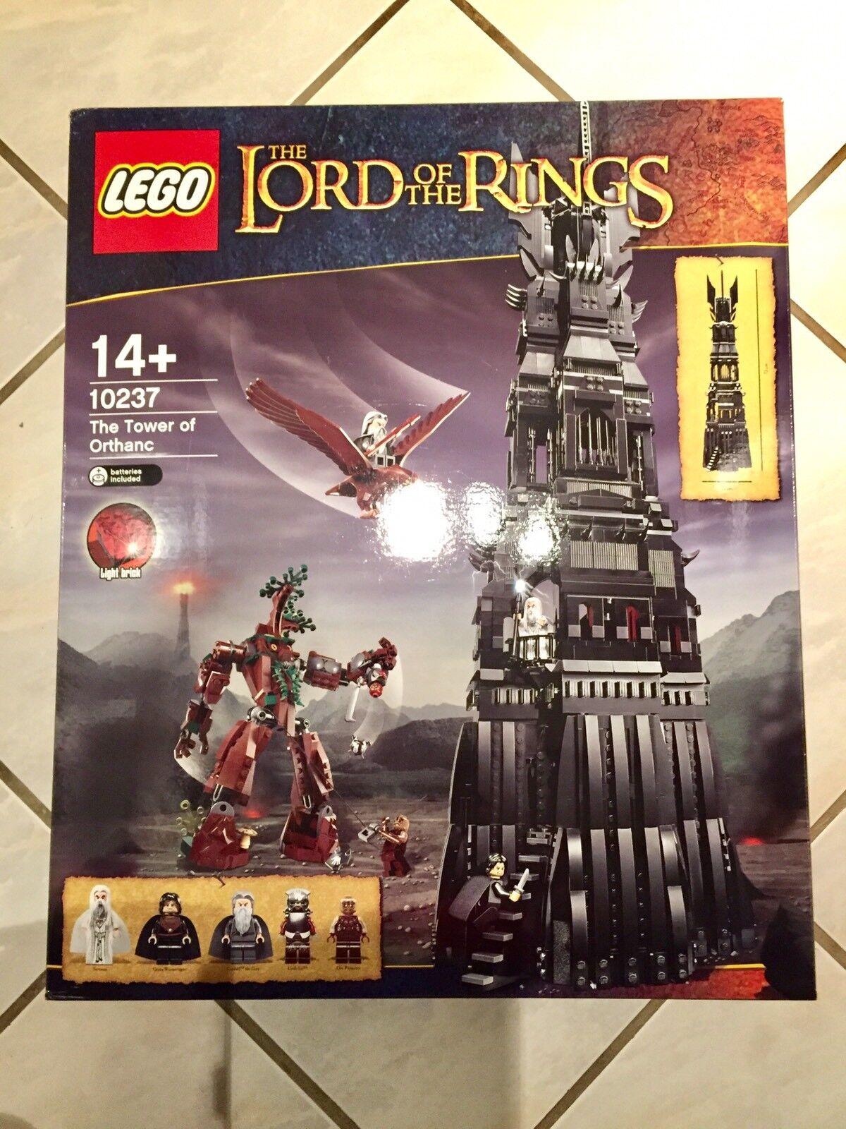 LEGO 10237 Torre di Orthanc ritirato il signore degli anelli LOTR Hobbit BNISB RARE Set