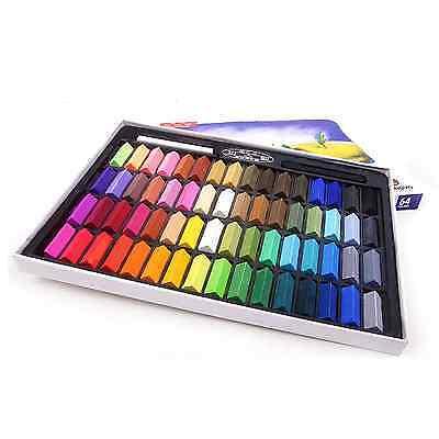 MUNGYO Soft Pastels 24/32/48/64 Colors Set Half Length Square Chalk Vivid Crayon