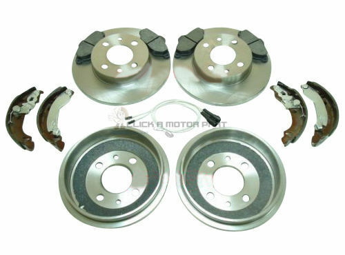 FIAT PUNTO MK2 60 1.2 8V 99-05 REAR BRAKE DRUMS AND SHOES FRONT DISCS /& PADS SET