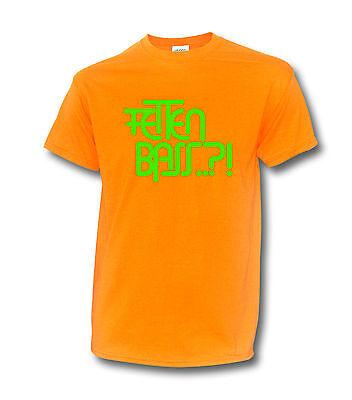"NEON T-Shirt ""FETTEN BASS"" KOPFHÖRER TECHNO ELECTRO DJ DeeJay UV SCHWARZLICHT"