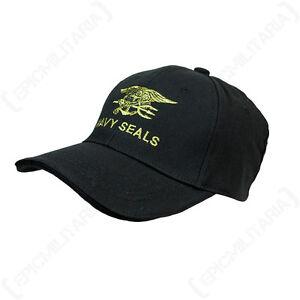 c32ab52fbddc7 Black Navy Seals Baseball Cap - US American Military Peak Sun Hat ...