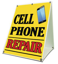 Cell Phone Repair Sidewalk A Frame 18x24 Outdoor Retail Sign