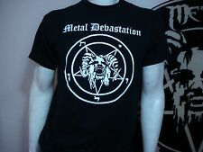 METAL DEVASTATION .NEW. LRG SHIRT.BLACK METAL. NARGAROTH. TSJUDER. GORGOROTH