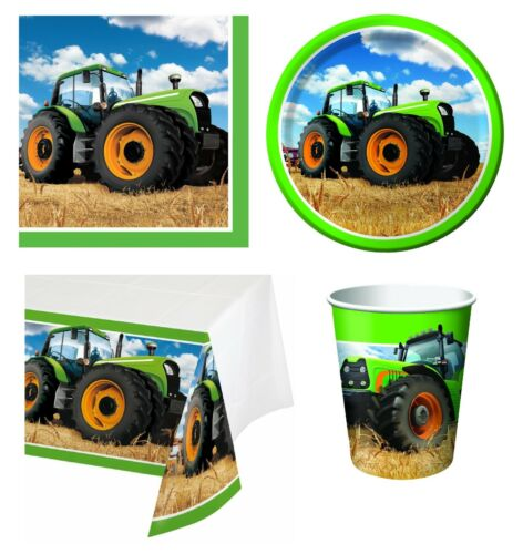 Farm Animal Tableware Balloons /& Decorations TRACTOR TIME Birthday Party Range