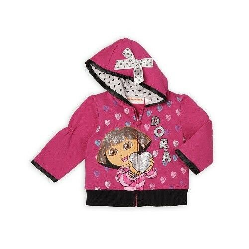 Dora The Explorer Infant  Girl/'s Hoodie Jacket 12M /& 18M   NWT//WOT