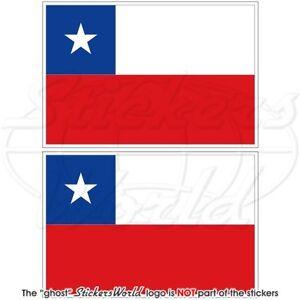 CHILEAN-Flag-CHILE-Vinyl-Bumper-Stickers-Decals-75mm-3-034-x2