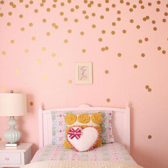 Nursery Decoration Baby Rome Decor Diy Wall Stickers 52 Pcs Decals Polka Dots