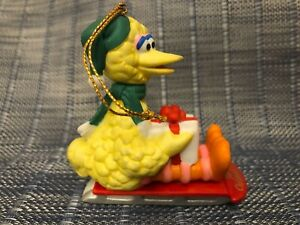 RARE-SESAME-STREET-BIG-BIRD-1994-JIM-HENSON-GROLIER-CHRISTMAS-XMAS-ORNAMENT