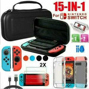 18 IN1 For Nintendo Switch Carrying Case Bag Protective Hard Cover + Accessories