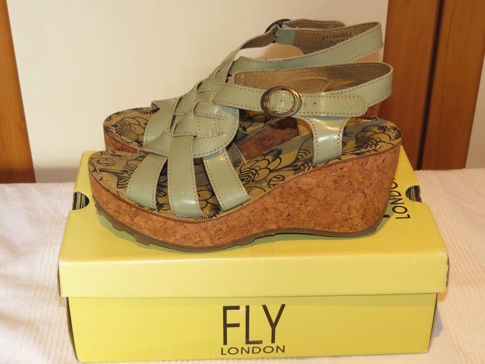 Fly London Grin Cuña Sandalias de Cuña Grin con Plataforma De Charol Diseñador UK 7 40 2625e2
