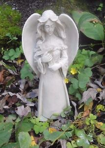 """Latex only small standing angel with cross mould 5"""" x 2.5"""" W at wings"""
