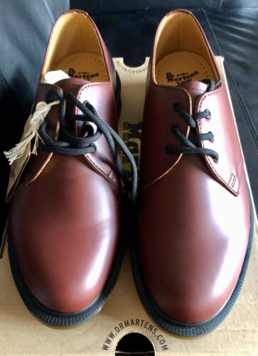 Dr Martens Airwair 1461 Pw Cherry Red Smooth Leather, Uk 7 Bnib 883985423510