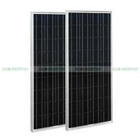 200W Solar Panel 2*100W PV Solar Panel for RV Caravan Boat 12V Battery Charger