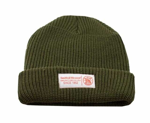 SMITH /& WESSON *CHARCOL /& BLUE KNIT STOCKING CAP* *NEW*